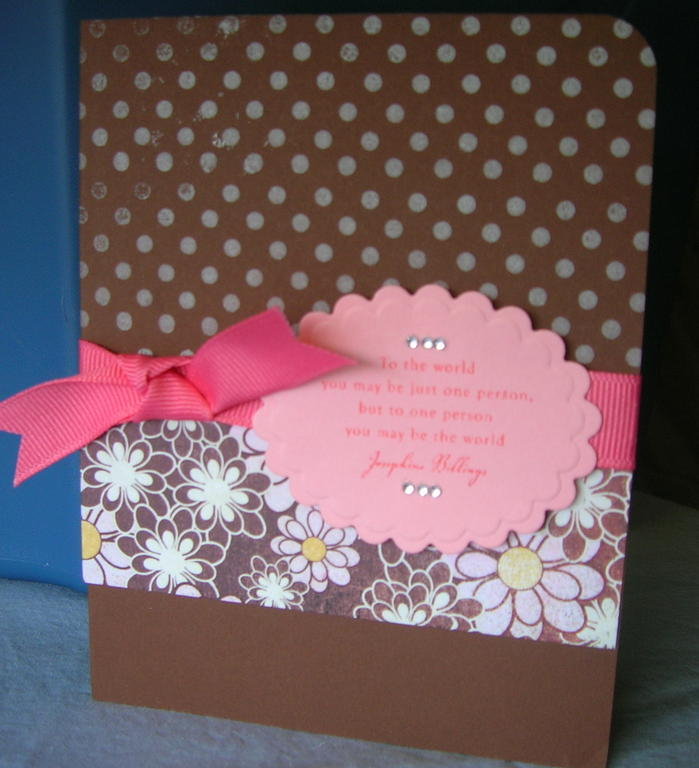 Polka Dotted Sentiment Card