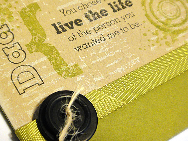 Dad's Life Card - detail