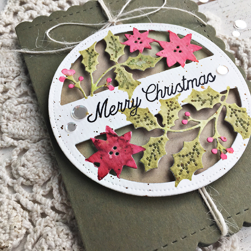 Merry Christmas Tag Card - detail