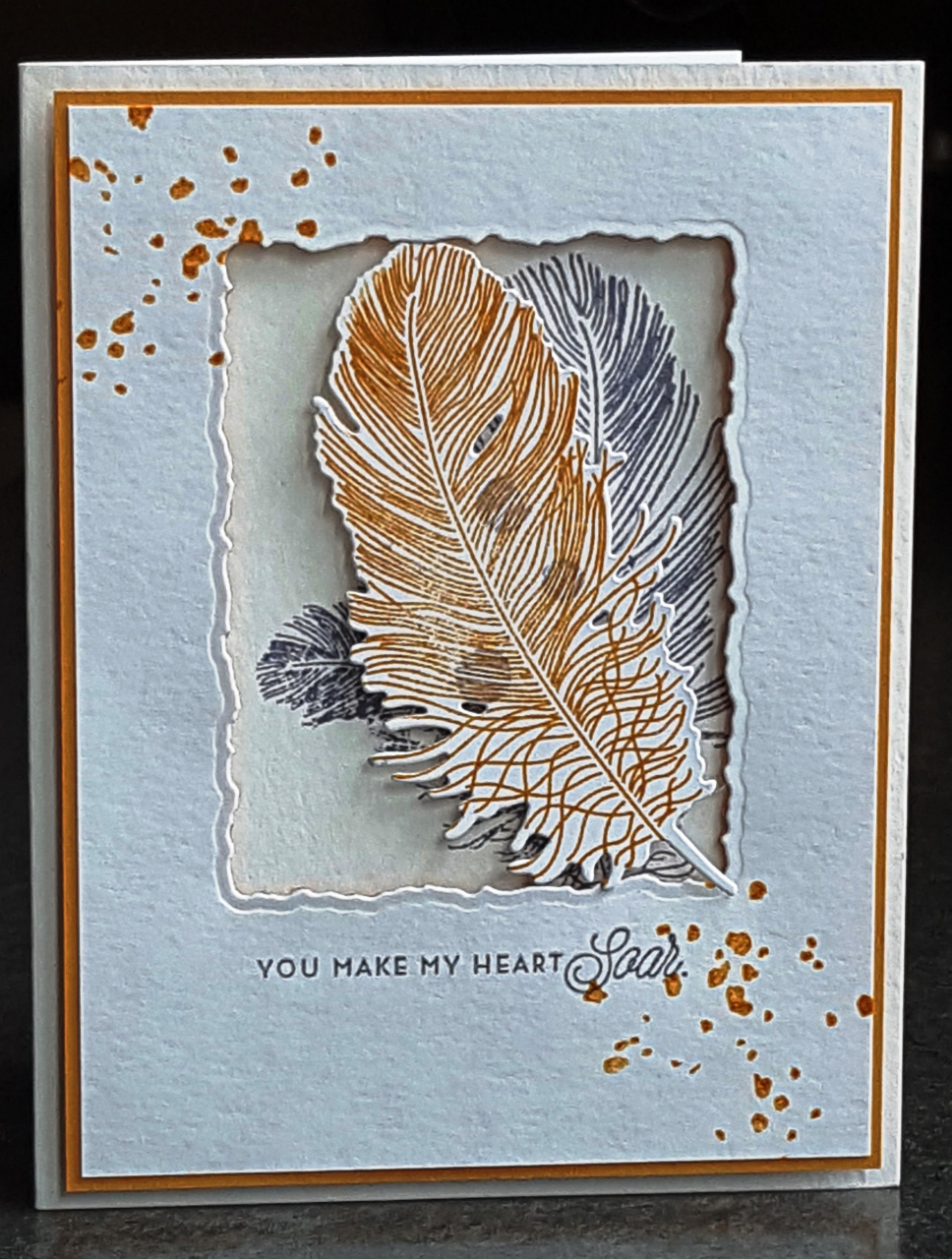 "Donna's Designs - Inset Feathers ""Soar"""