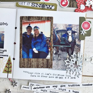 December Journal layout 2 - detail