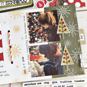 December Journal layout 3 - detail