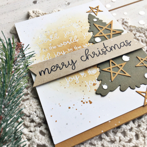 Merry Christmas Tree Card - detail