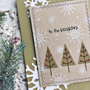 'Tis the Season Card - detail