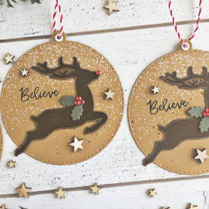 Reindeer Tags - detail